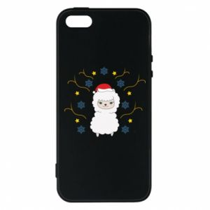 Phone case for iPhone 5/5S/SE Alpaca in the Snowflakes