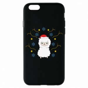 Phone case for iPhone 6/6S Alpaca in the Snowflakes
