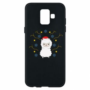 Phone case for Samsung A6 2018 Alpaca in the Snowflakes