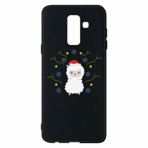 Phone case for Samsung A6+ 2018 Alpaca in the Snowflakes