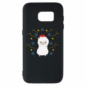 Samsung S7 Case Alpaca in the Snowflakes