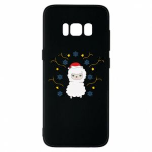Phone case for Samsung S8 Alpaca in the Snowflakes