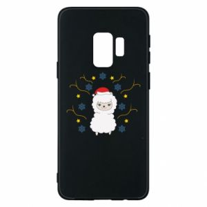 Phone case for Samsung S9 Alpaca in the Snowflakes