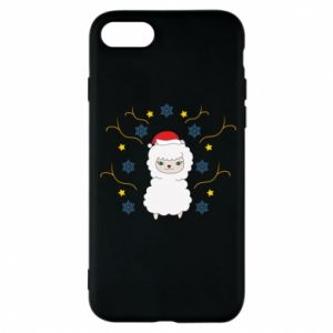 Phone case for iPhone 8 Alpaca in the Snowflakes