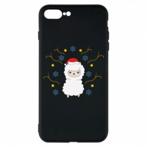 Phone case for iPhone 8 Plus Alpaca in the Snowflakes