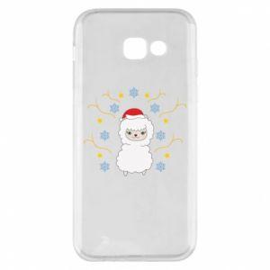 Samsung A5 2017 Case Alpaca in the Snowflakes