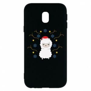 Phone case for Samsung J3 2017 Alpaca in the Snowflakes