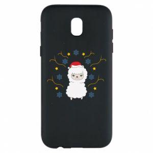 Samsung J5 2017 Case Alpaca in the Snowflakes