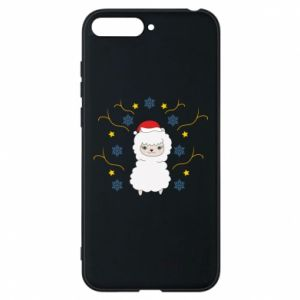 Phone case for Huawei Y6 2018 Alpaca in the Snowflakes