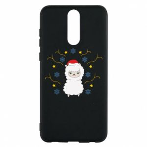 Phone case for Huawei Mate 10 Lite Alpaca in the Snowflakes