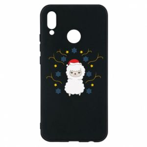 Phone case for Huawei P20 Lite Alpaca in the Snowflakes