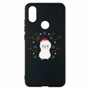 Phone case for Xiaomi Mi A2 Alpaca in the Snowflakes