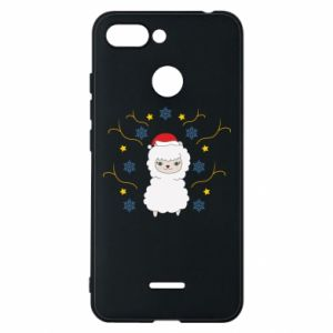 Phone case for Xiaomi Redmi 6 Alpaca in the Snowflakes