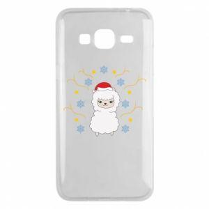 Samsung J3 2016 Case Alpaca in the Snowflakes