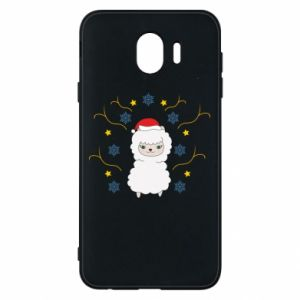 Phone case for Samsung J4 Alpaca in the Snowflakes