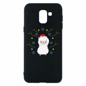 Phone case for Samsung J6 Alpaca in the Snowflakes
