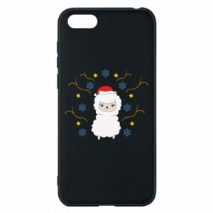 Phone case for Huawei Y5 2018 Alpaca in the Snowflakes