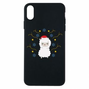 Phone case for iPhone Xs Max Alpaca in the Snowflakes
