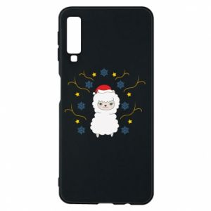 Phone case for Samsung A7 2018 Alpaca in the Snowflakes