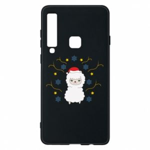Phone case for Samsung A9 2018 Alpaca in the Snowflakes