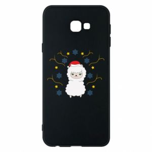 Phone case for Samsung J4 Plus 2018 Alpaca in the Snowflakes
