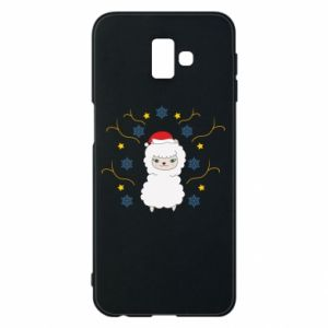 Phone case for Samsung J6 Plus 2018 Alpaca in the Snowflakes