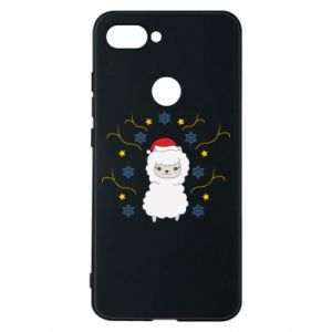 Phone case for Xiaomi Mi8 Lite Alpaca in the Snowflakes