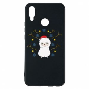 Phone case for Huawei P Smart Plus Alpaca in the Snowflakes