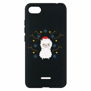 Phone case for Xiaomi Redmi 6A Alpaca in the Snowflakes