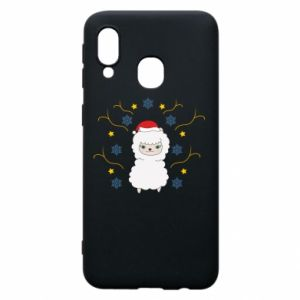 Phone case for Samsung A40 Alpaca in the Snowflakes