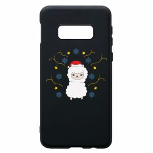 Phone case for Samsung S10e Alpaca in the Snowflakes