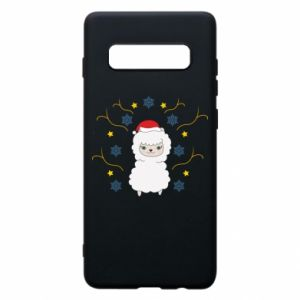 Phone case for Samsung S10+ Alpaca in the Snowflakes