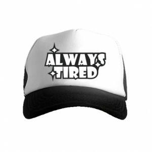 Czapka trucker dziecięca Always tired