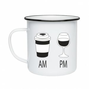 Enameled mug Am or pm