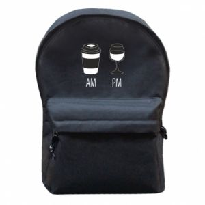 Backpack with front pocket Am or pm