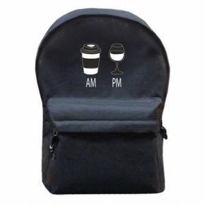 Plecak z przednią kieszenią Am or pm