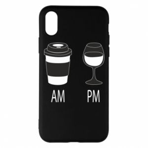 Phone case for iPhone X/Xs Am or pm