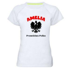 Damska koszulka sportowa Amelia jest prawdziwą Polką