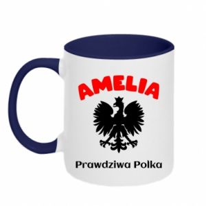 Kubek dwukolorowy Amelia jest prawdziwą Polką