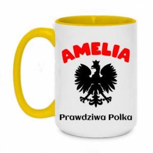 Two-toned mug 450ml Amelia is a real Pole