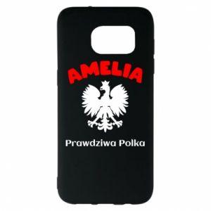 Phone case for Samsung A30 Amelia is a real Pole - PrintSalon