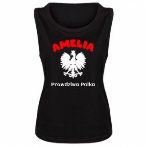 Damska koszulka bez rękawów Amelia jest prawdziwą Polką