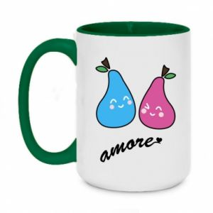 Two-toned mug 450ml Amore