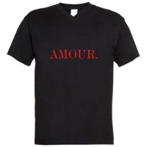 Men's V-neck t-shirt Amour.