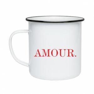 Kubek emaliowany Amour.