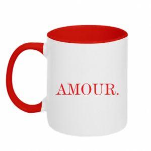 Two-toned mug Amour.