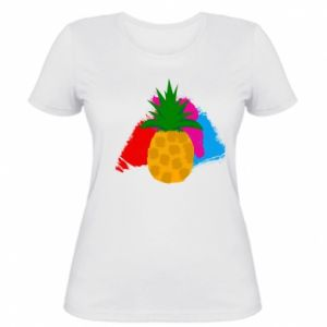 Women's t-shirt Pineapple on a bright background