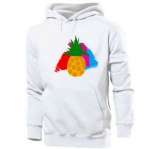 Men's hoodie Pineapple on a bright background