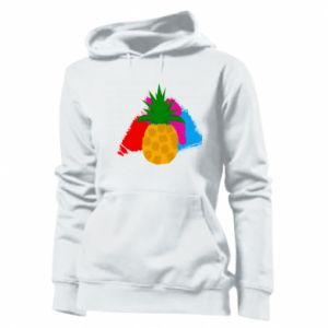 Women's hoodies Pineapple on a bright background