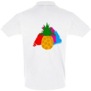 Men's Polo shirt Pineapple on a bright background